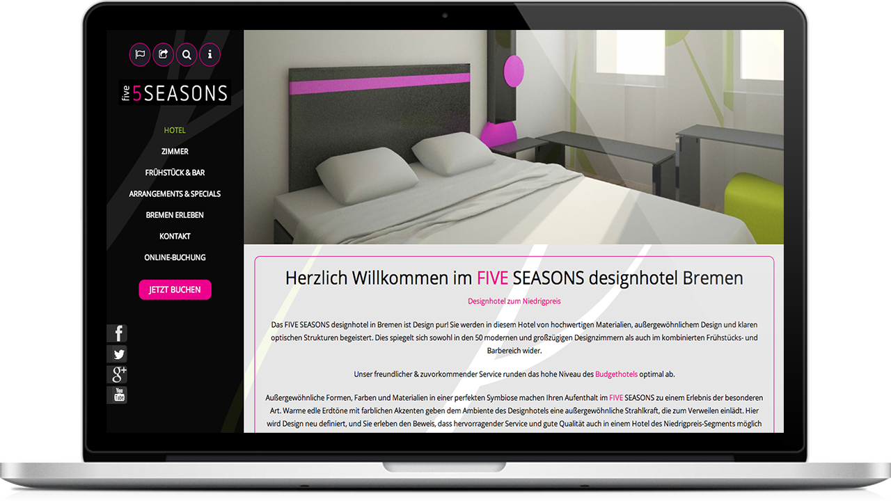 Fiveseasons designhotel wpfabrik for 5 seasons designhotel bremen